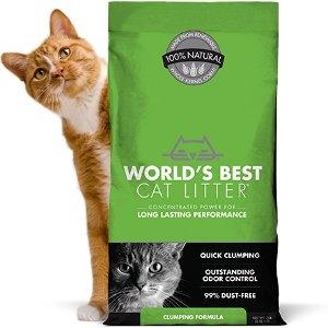 World's Best Clumping Formula Cat Litter 28lbs.