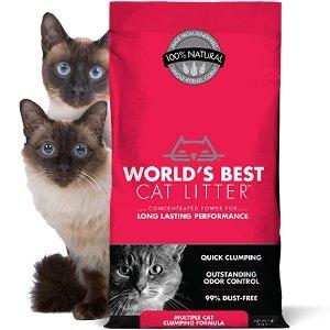 World's Best Multiple Cat Clumping Formula Cat Litter 28lbs.