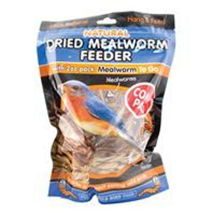 Natural Dried Mealworm and Reed Feeder Wild Bird Food