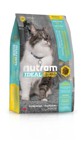 I17 Nutram Ideal Solution Support® Indoor Shedding Natural Cat FoodChicken & Rolled Oats with Whole Eggs Recipe