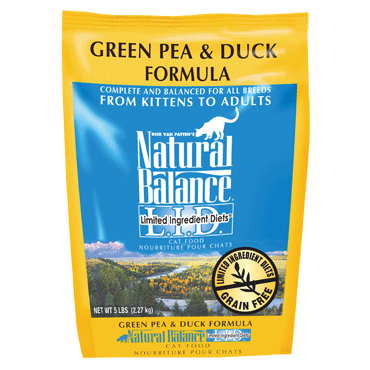 Natural Balance Limited Ingredient Diets Green Pea & Duck Dry Cat Food 10 lb.