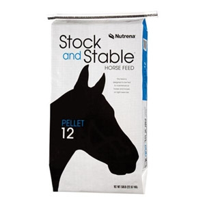 Nutrena® Stock and Stable Pellet 12% Horse Feed - 50 lbs.
