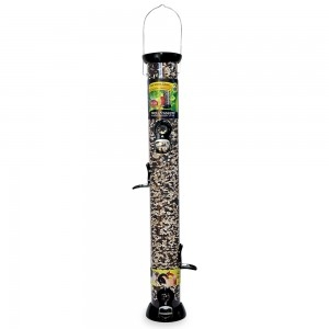 Droll Yankees Onyx Clever Clean 24″ Sunflower or Mixed Seed Bird Feeder