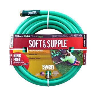"Swan Soft & Supple Heavy Duty Garden Hose 5/8"" x 100'"