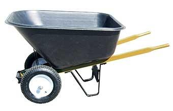 Wheelbarrow Poly Dual Tires 10 CF