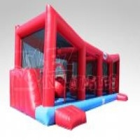 Wiped Out obstacle course game (aka bounce house, inflatable, moonwalk, jump)