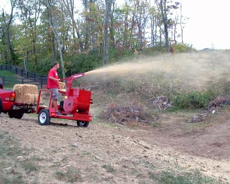 Trailer Mounted Straw Blower
