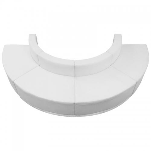 Hercules, Alon Series, White Leather Convex Chair