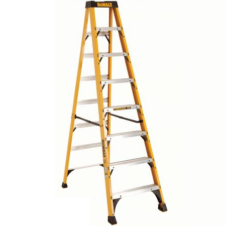 8 ft Fiberglass Standard Step Ladders