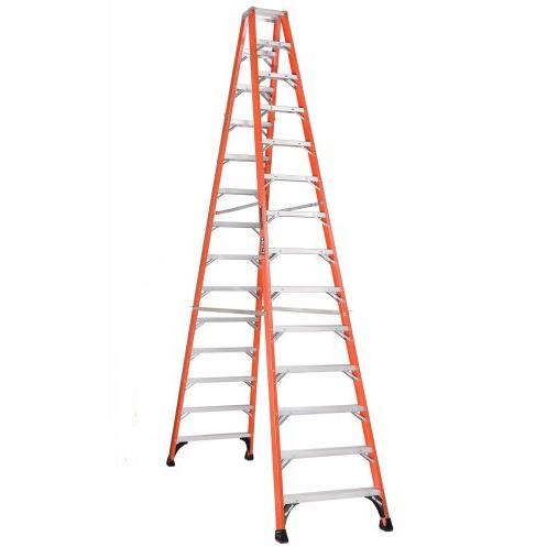 14 ft Fiberglass Twin Front Step Ladders