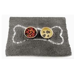 Small Soggy Doggy Doormat: Grey with Light Grey Bone
