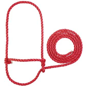 35-7905-Red Calf Poly Rope Halter