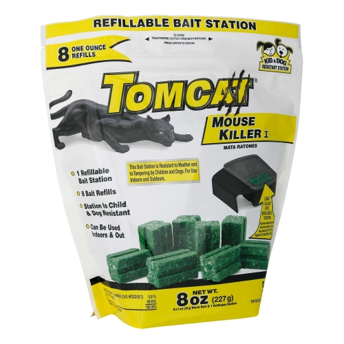 Tomcat Disposable Bait Station with 8 Refills