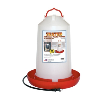 Heated Plastic Poultry Fountain 3 Gal