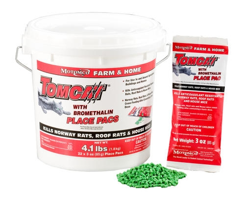 Tomcat With Bromethalin Place Pacs Pellets Pail of 22