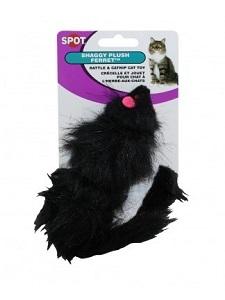Spot Shaggy Plush Ferret Rattle & Catnip