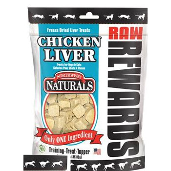 Raw Rewards Chicken Liver Treats, 3 oz.