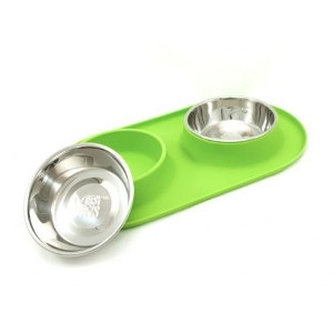 Messy Mutts Silicone Double Feeder