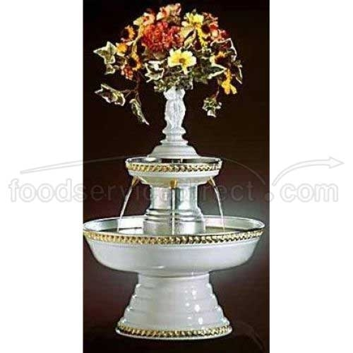 Fountain, White with Gold Trim