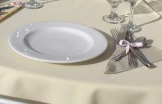 Tableware, White Undecorated Round B&B Plate, 6 1/4