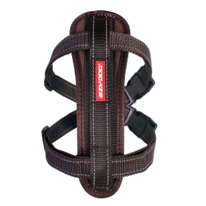 EzyDog Chest Plate Harness Brown