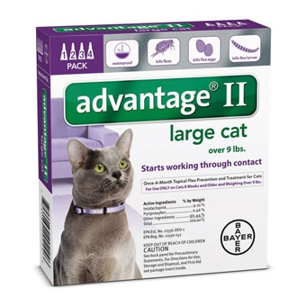 Advantage II Flea Control for Large Cats over 9 lbs - 4PK