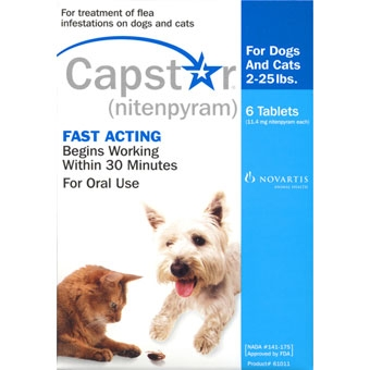 Capstar Flea Treatment for Dogs & Cats 2-25lbs - 6 Tablets