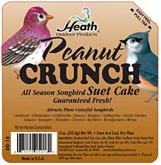 Heath Peanut Crunch Suet Cake