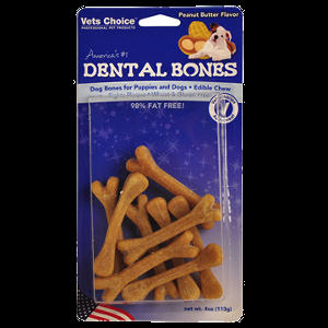 Dental Bone - Peanut Butter 6pk