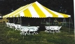 Canopy 20'x40' yellow & white csup
