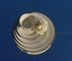 Saucer, Ivory w/Double Gold Band