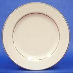 Dinner Plate, Ivory w/Double Gold Band, 10""
