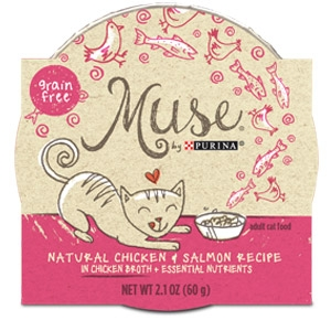 Purina® Muse® Chicken and Salmon Cat Food in Broth