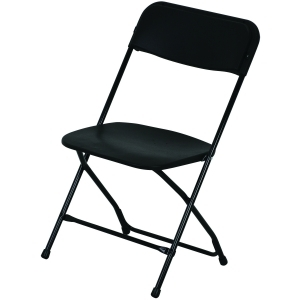 Chair- Black Vinyl Folding