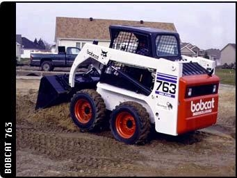 Skid Loader with rubber tires