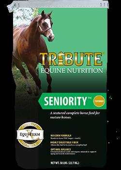 Tribute Seniority Texturized Horse Feed