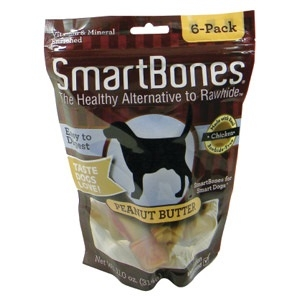 Smartbones Peanut Butter Small 6 Pack