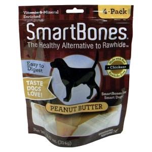 Smartbones Peanut Butter Med. 4 Pack