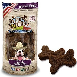 It's Purely Natural® Beef Jerky Bone-Shaped Treats