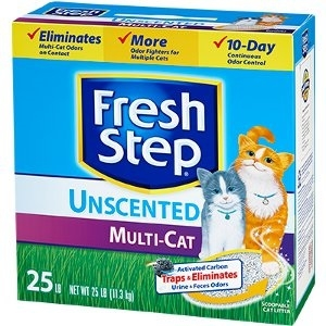 Fresh Step® Multi-Cat Unscented Scoopable 25 lb