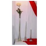 "Tower Vase, 12"", 19 1/2"" or 28 1/2"""