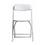 Chair- White Vinyl Folding