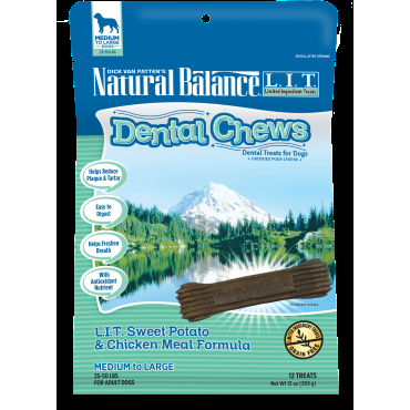 Nautral BalanceDental Chews L.I.T. Sweet Potato & Chicken Meal Formula
