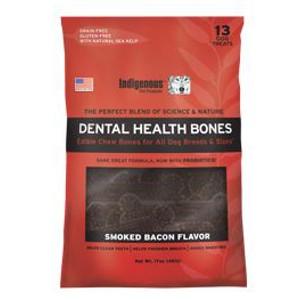 Indigenous Pet Products Dental Health Bones- Bacon Flavor