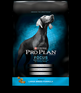 Purina Pro Plan Focus Large Breed Chicken and Rice Formula, 34 pound bag