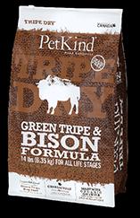 PetKind Green Tripe & Bison Dog Food 14lb