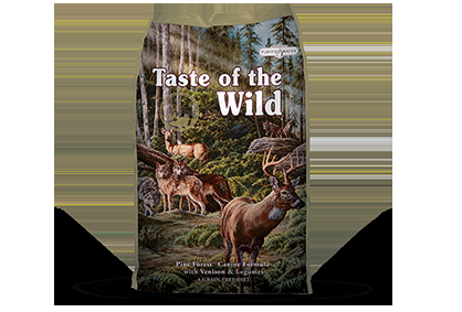 Taste of the Wild Pine Forest with Venison and Legumes 5, 14 and 28 pound bags