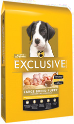 Exclusive Large Breed Puppy Chicken and Rice Formula, 35 pound bag