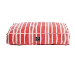 Harry Barker Classic Stripe Rectangle Dog Bed Red