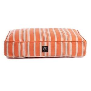 Harry Barker Classic Stripe Rectangle Dog Bed Orange
